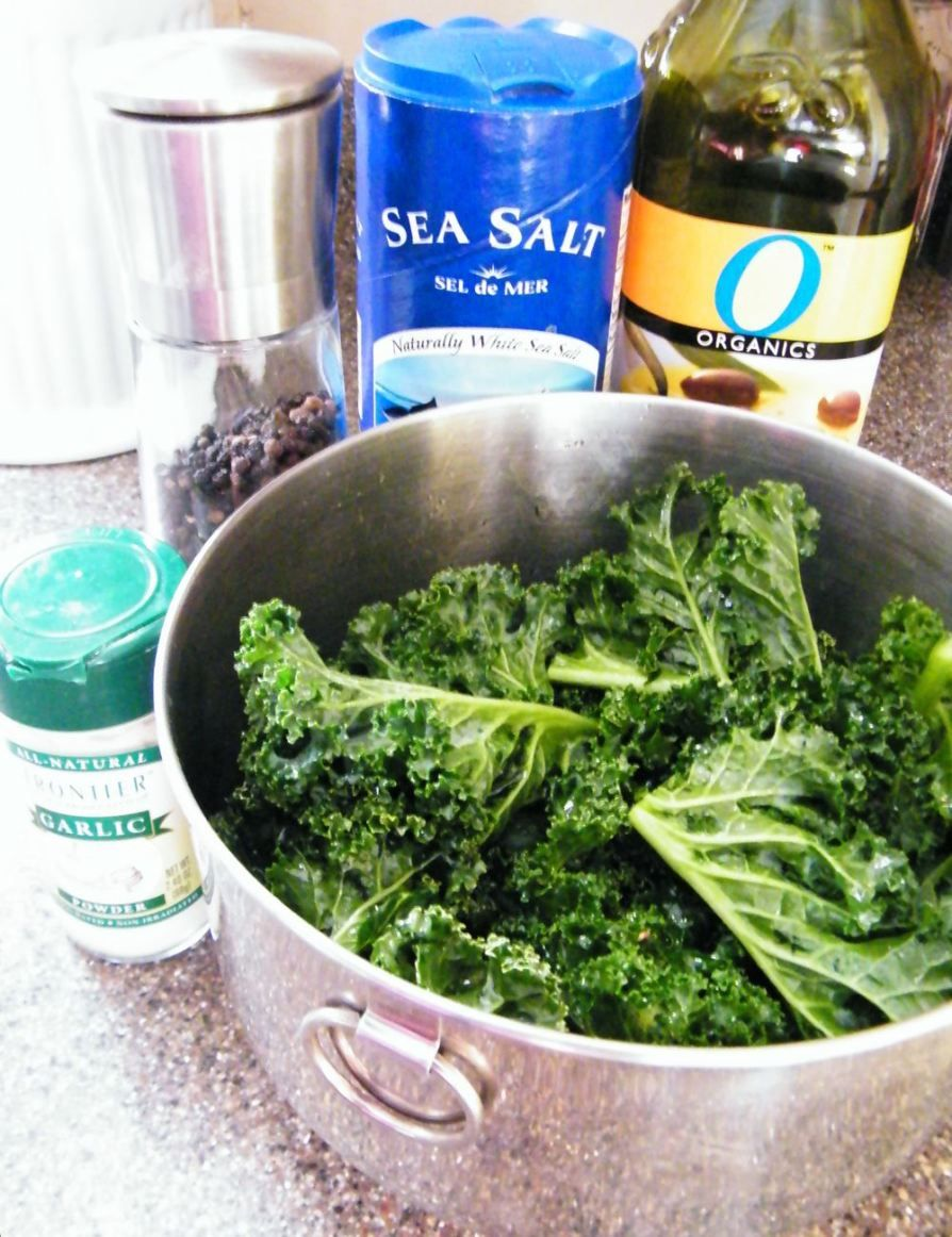 How to make kale chips making kale chips homemade kale