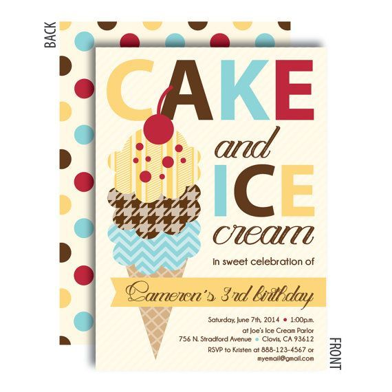 Pin by Robyn Stuart on Ice Cream Social – Ice Cream Party Invitation
