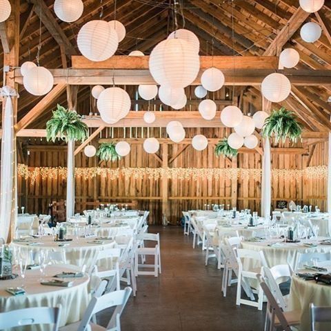 Verbazingwekkend Farm wedding decorated with paper lanterns Boerenschuur sfeervol TL-75