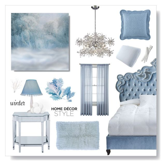 """Winter Home Decor Style"" by jleigh329 ❤ liked on Polyvore featuring interior, interiors, interior design, home, home decor, interior decorating, Haute House, ELK Lighting, Sterling Industries and Lite Source"