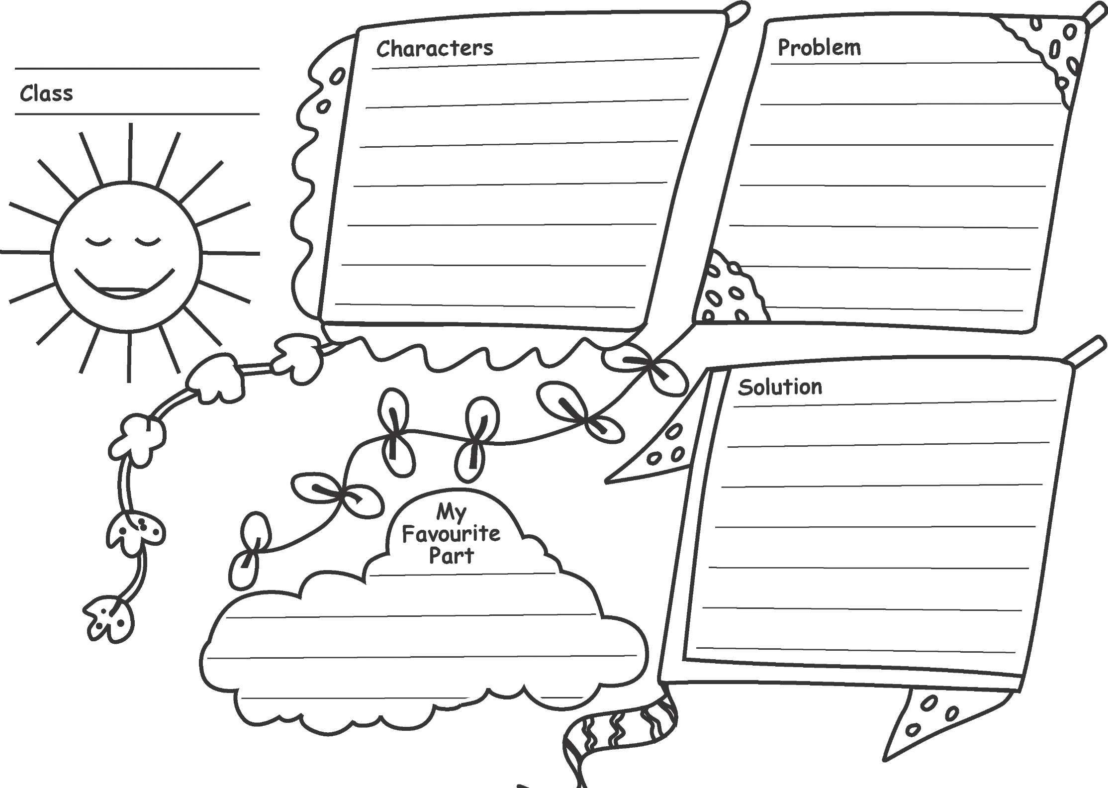 Short Story Kite Organizer Kite Graphic Organizers My Favorite Part [ 1584 x 2228 Pixel ]
