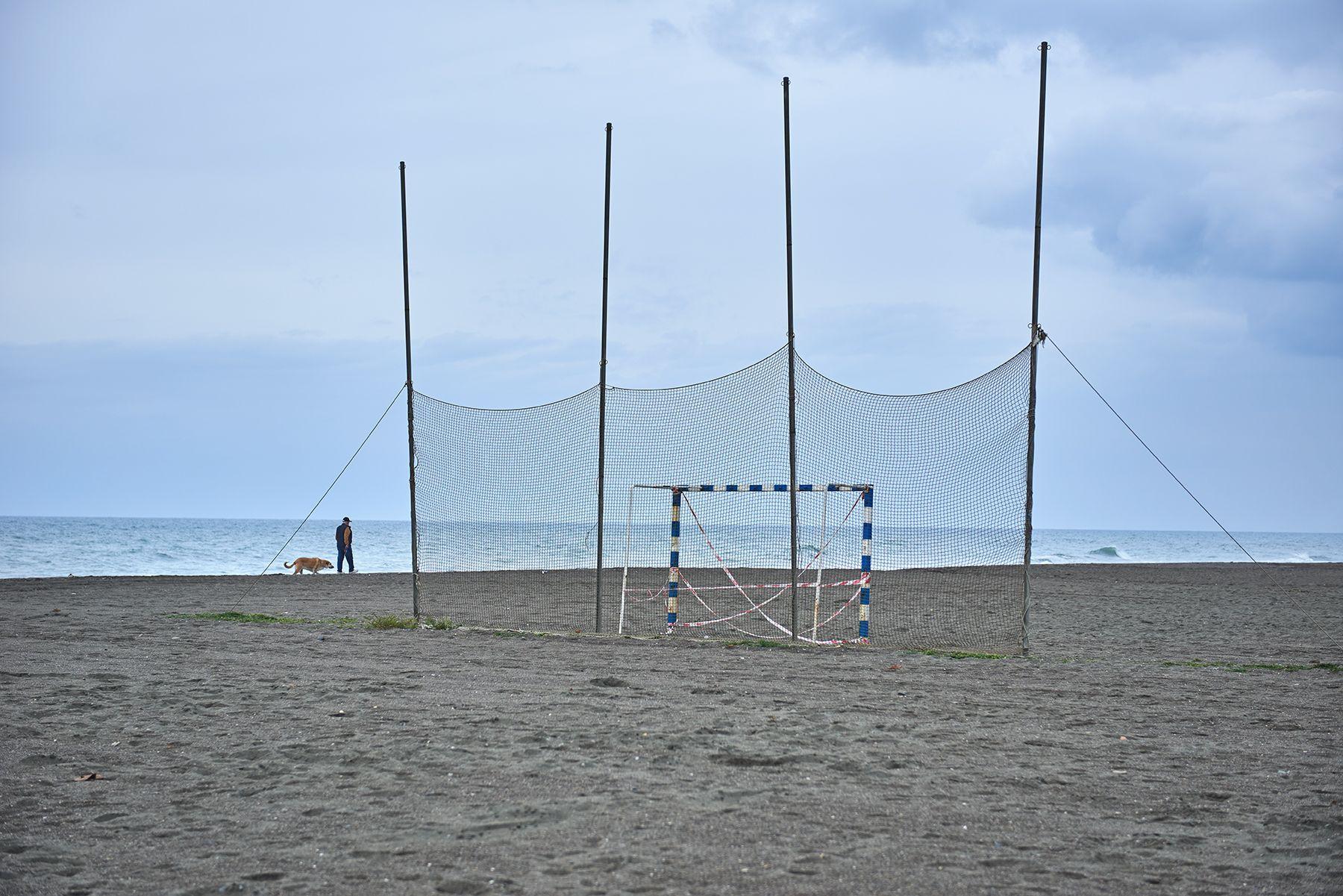 El futbol de playa confinado