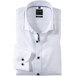 Photo of Olymp Level Five shirt, body fit, Royal Kent, white, 45 Olymp