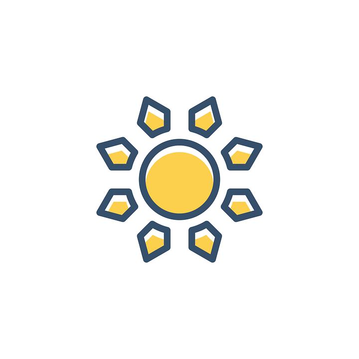 Free Image On Pixabay Sun Icon Summer Sky Sunny Sun Art Icon Sun Moon Stars
