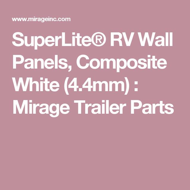 SuperLite® RV Wall Panels, Composite White (3 6mm