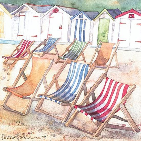 Ball Hut Summer: Watercolor And Paintings