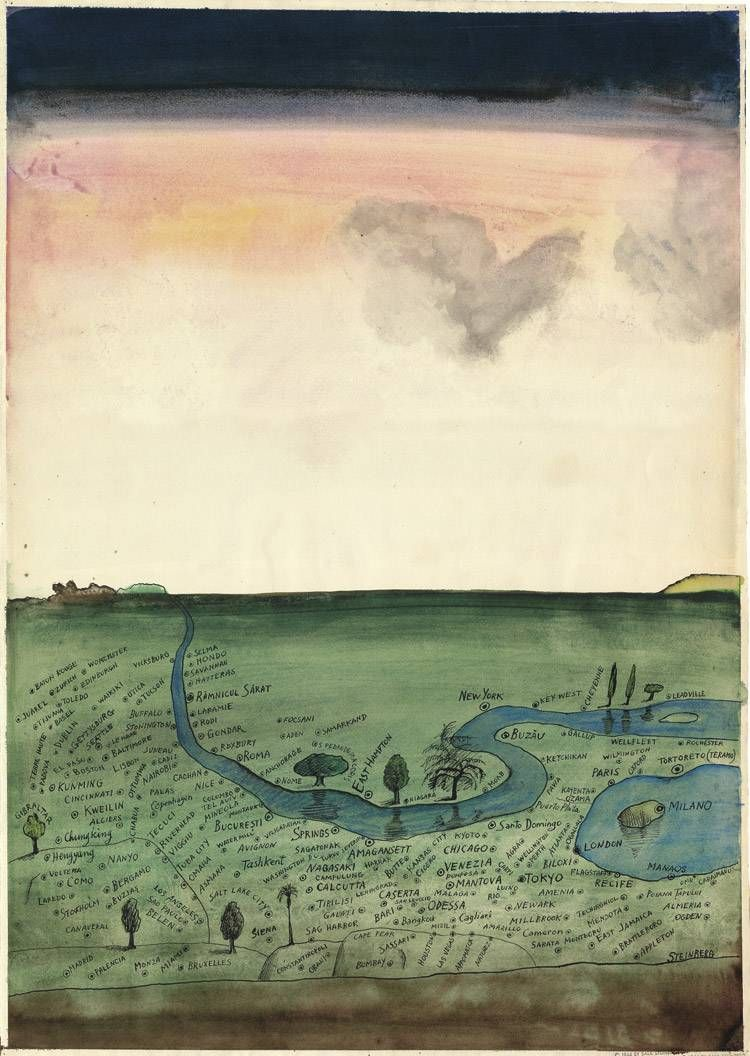 mythologyofblue:    Saul Steinberg, Autogeography, 1966 +  (austinkleon)