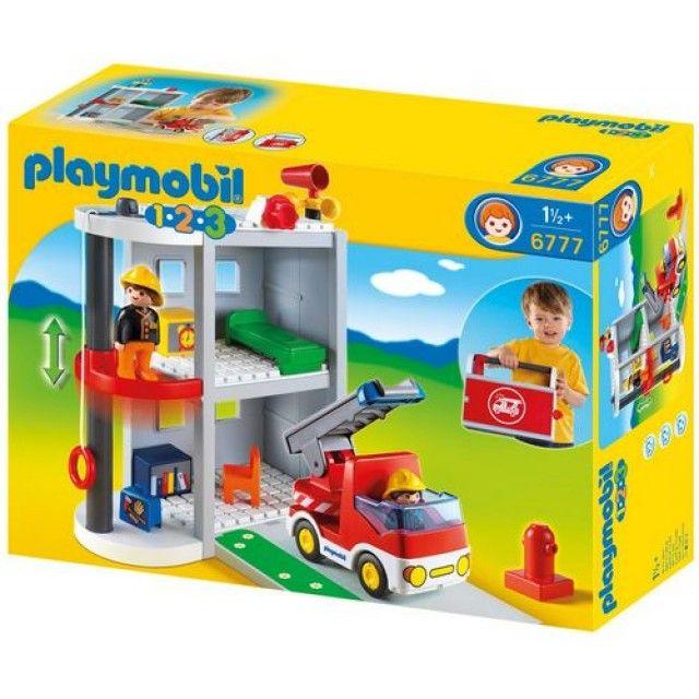Playmobil 123 Brandweer kazerne - 6777 Ryan Pinterest Playmobil - jeux de construction de maison en 3d