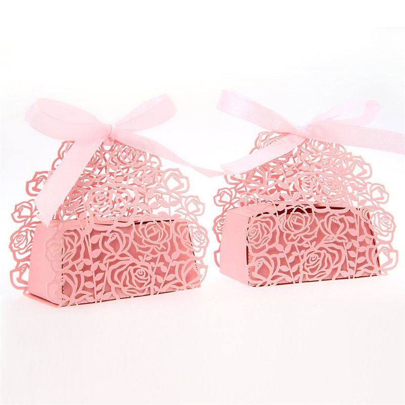 50pcs Butterfly Sweet Candy Cake Gift Party Wedding Favor Favour Boxes