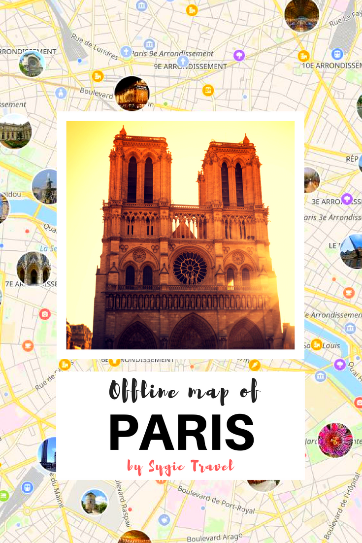 Offline Map Of Paris France By Sygic Travel Download The App For