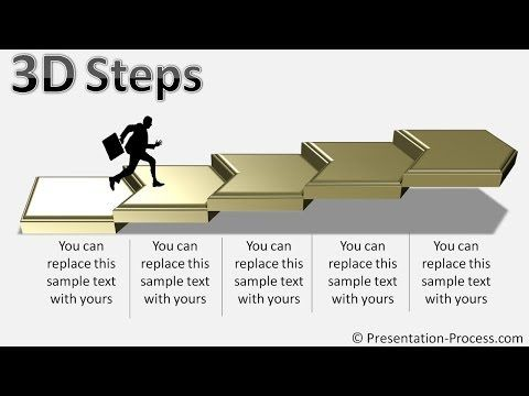 How to create 3d steps with smartart powerpoint smartart series how to create 3d steps with smartart powerpoint smartart series 33 youtube ccuart Gallery