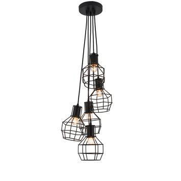 Hanglamp Miran 5-lichts zwart | Hanglampen | Verlichting | GAMMA ...