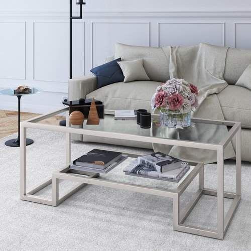 Glas und Weiß \u2013 Couchtisch Design Ideen für das moderne Wohnzimmer
