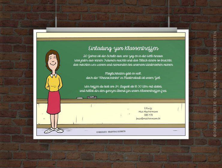 Kostenlose Einladung Klassentreffen | FREE PRINTABLES | Pinterest ...