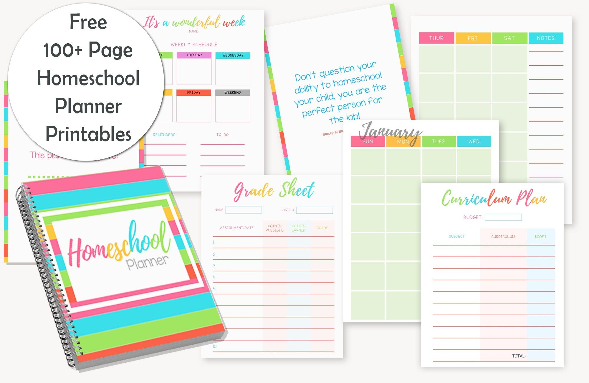 Week At a Glance Form Homework planner, Weekly planner