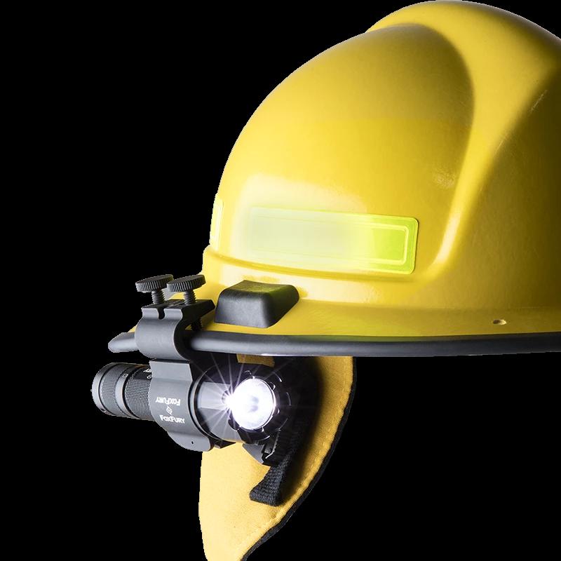 Sideslide C Clamp Side Mounted Helmet Light Foxfury Lighting Solutions Helmet Light C Clamp Flashlight