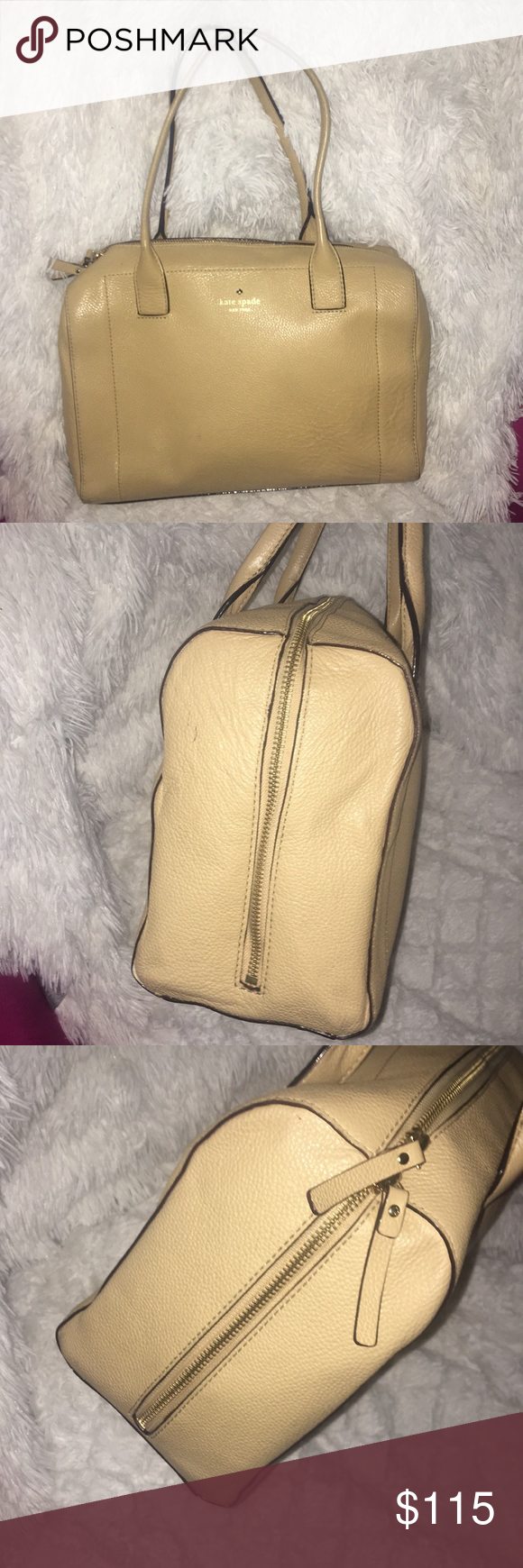 Kate Spade Nude Hand Bag 2 working zippers tan exterior orange/red exterior  Non damaged handles No trades, bundles and offers welcome! kate spade Bags  ...