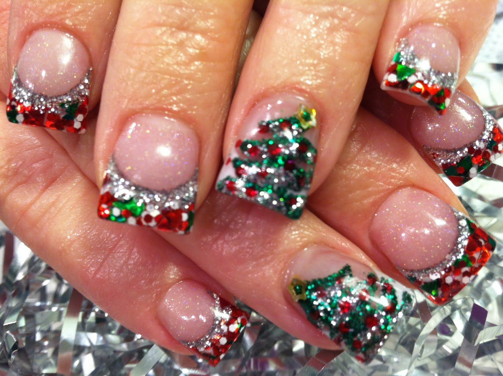 Christmas 3d Nail Art With Ring