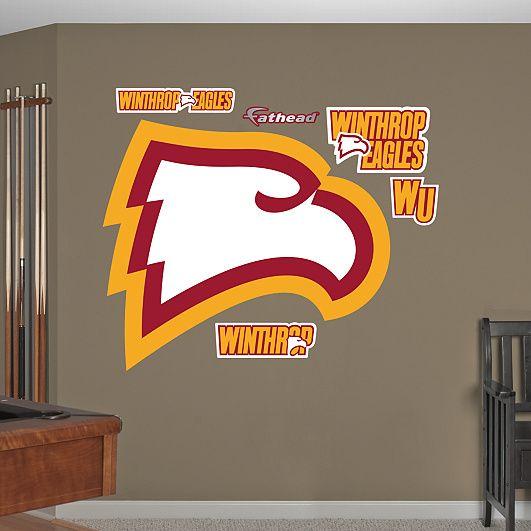 Winthrop Eagles Logo Winthrop College Walls Wall Decals