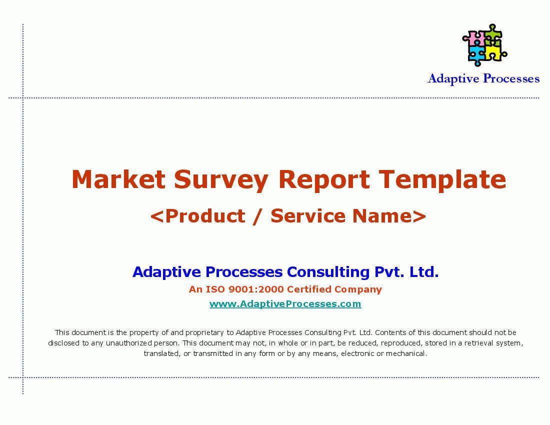 Market Report Sample Survey Format Stock Analysis Pdf Throughout
