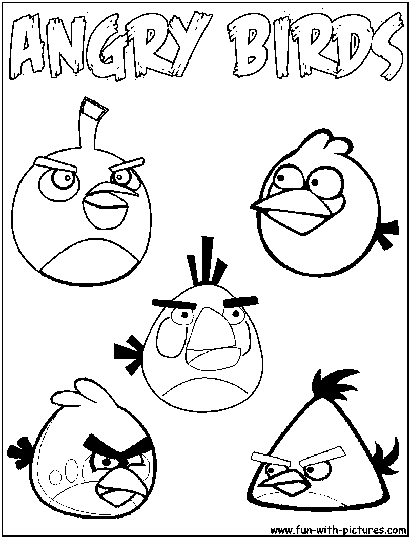 Angry Birds Colouring Pages That You Can Use As Templates