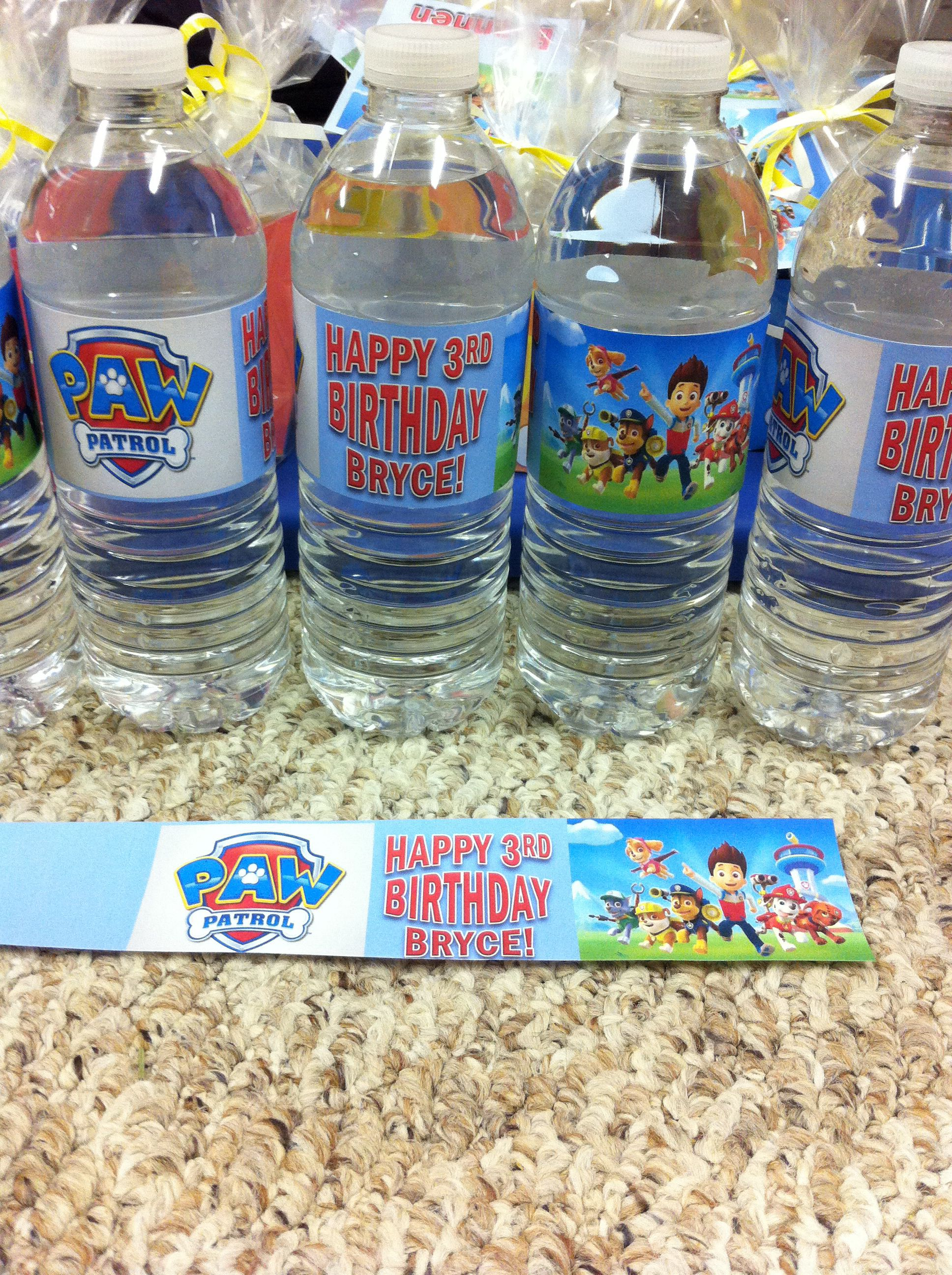 1aa9cbac39 Paw Patrol water/juice box labels. Yes you can make these yourself! Free  clip art, add word art in a text box sized to fit.