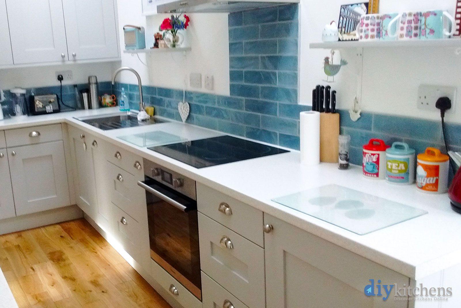 An Innova Norton Light Grey Shaker Kitchen   Real Customer Kitchens ...