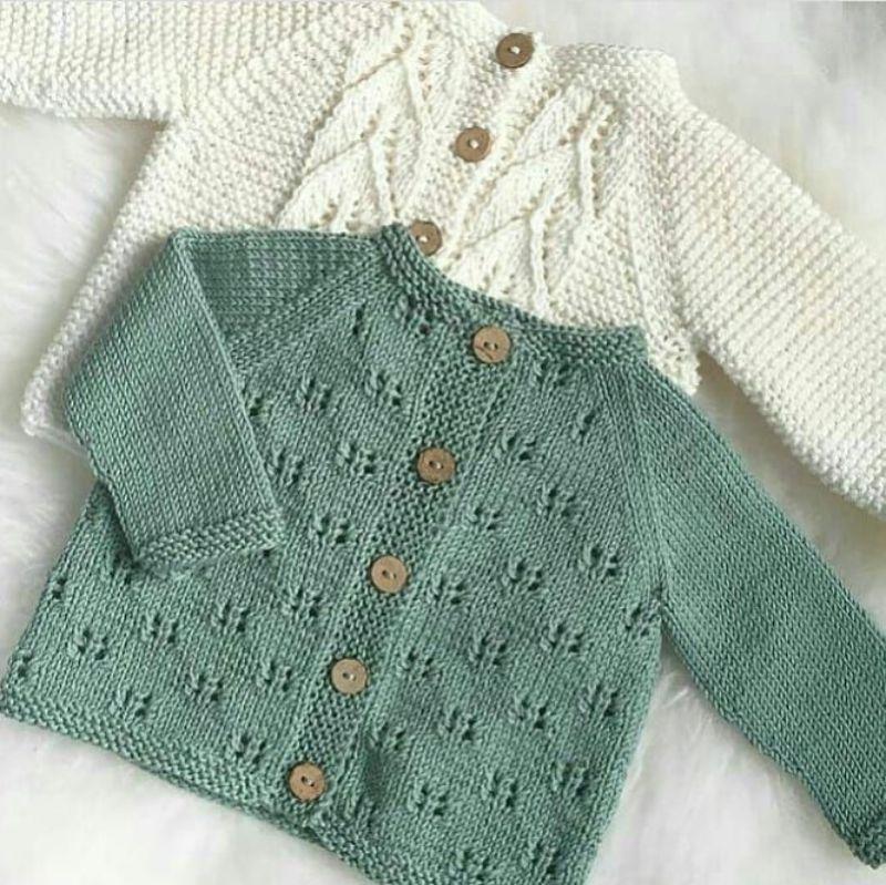 Çok Harika Bebek Kazak Örgü Modelleri