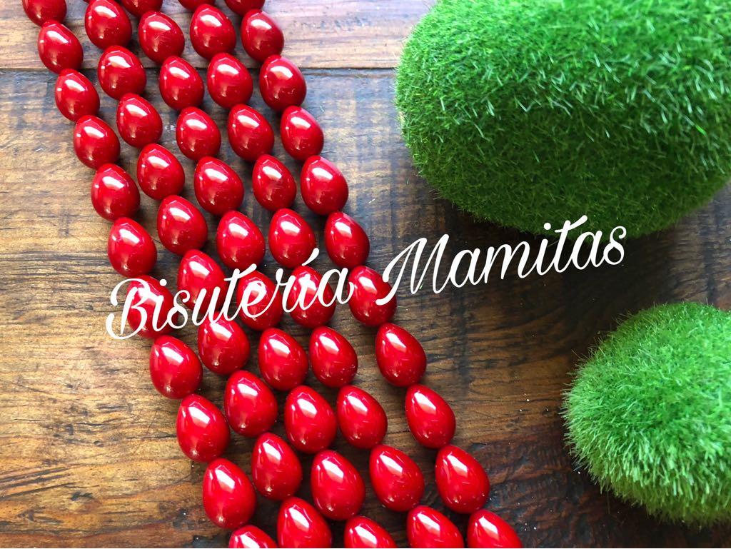 9d5aa618317d PM11P - Hilo de perla Mallorca gota roja