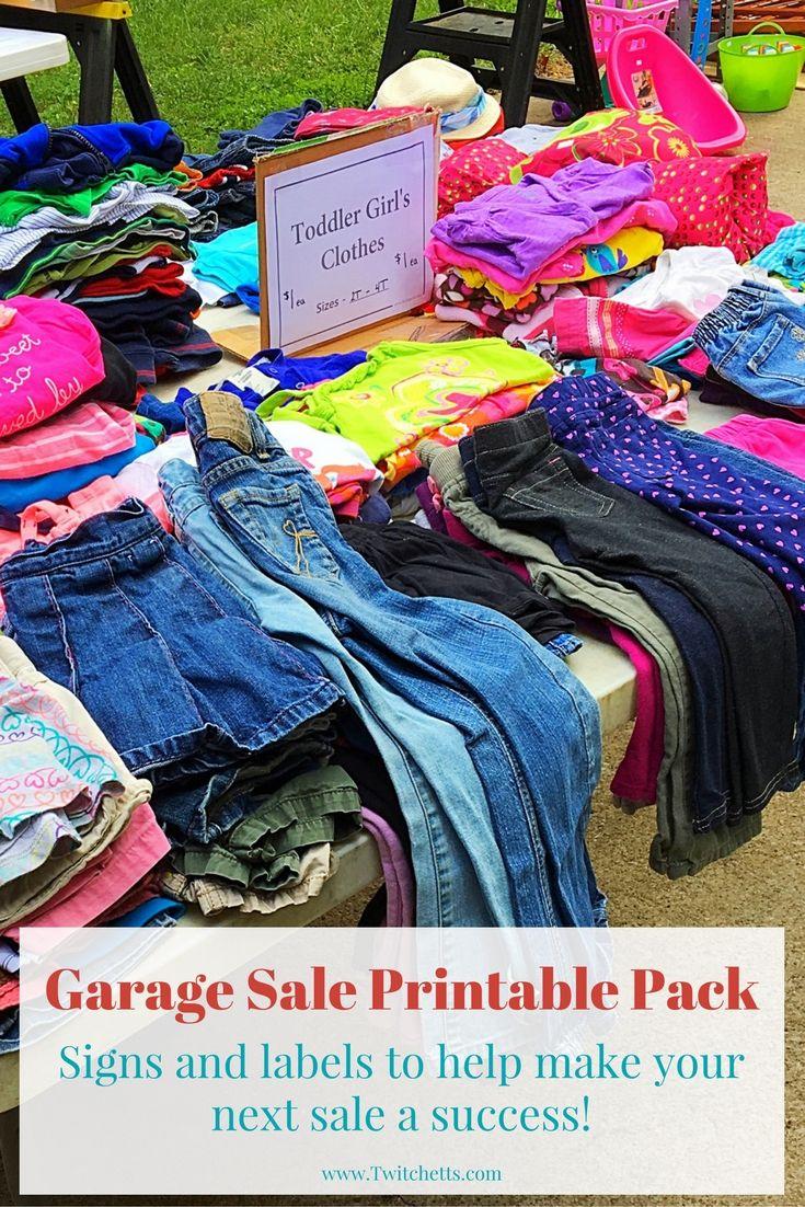 Printable Garage Sale Kit
