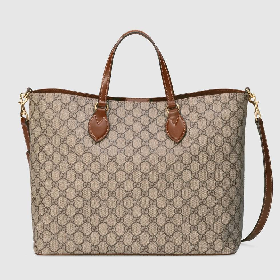 c854aa99df7 Shop the GG Supreme tote by Gucci. Incredibly malleable