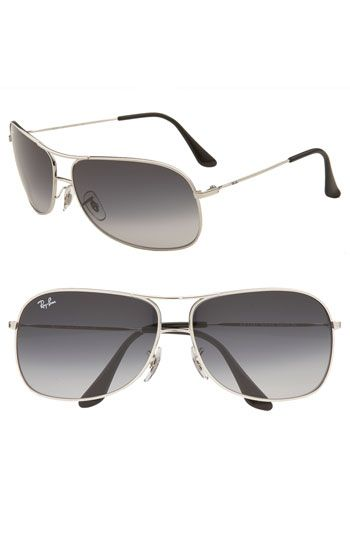 acd20b62fe Ray-Ban Square 64mm Wrap Aviator Sunglasses | Nordstrom | My Style ...