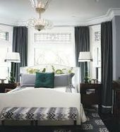 bed bay window  Google Search #graybedroomwithpopofcolor