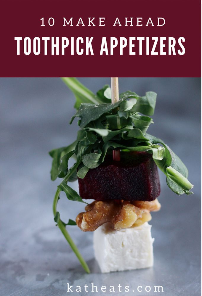 Photo of 10 Make-Ahead Toothpick Appetizers – Kath Eats Real Food