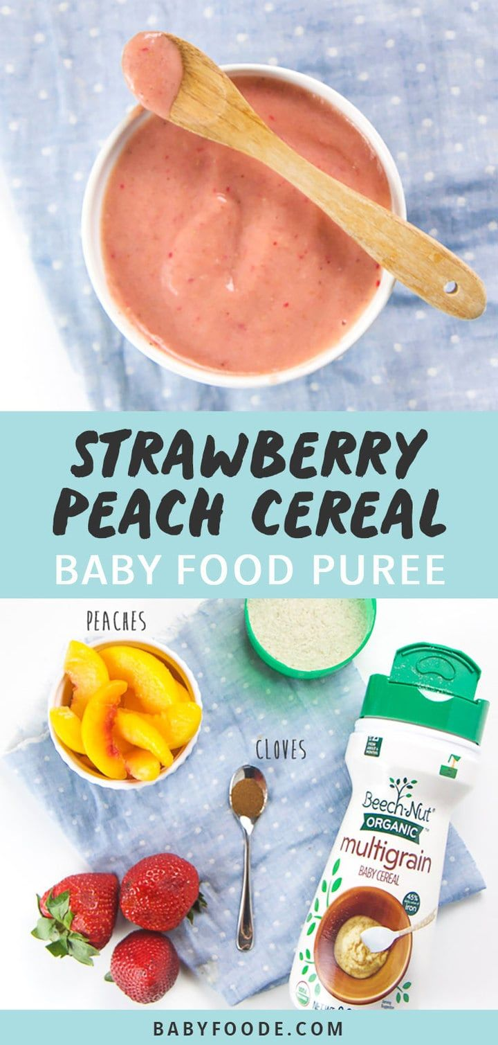 Strawberry Peach Breakfast Cereal for Baby (multi-grain!) – Baby Foode