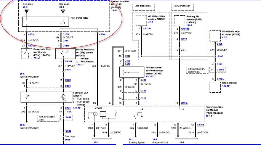 Ford Fuel Pump Relay Wiring Diagram With Images Diagram Relay Ford