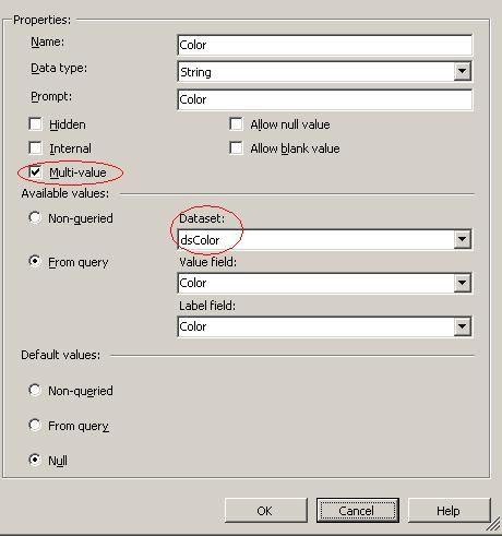 Passing multi-value parameter in stored procedure (SSRS report) - training report