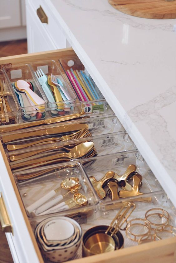 5 Simple Storage Solutions For Small Kitchens Kitchen Drawer Organization Kitchen Drawers Small Kitchen Organization