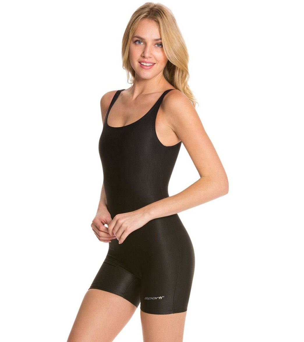 ef5e8527818c Sporti Polyester Solid Fitness One Piece Unitard at SwimOutlet.com - Free  Shipping