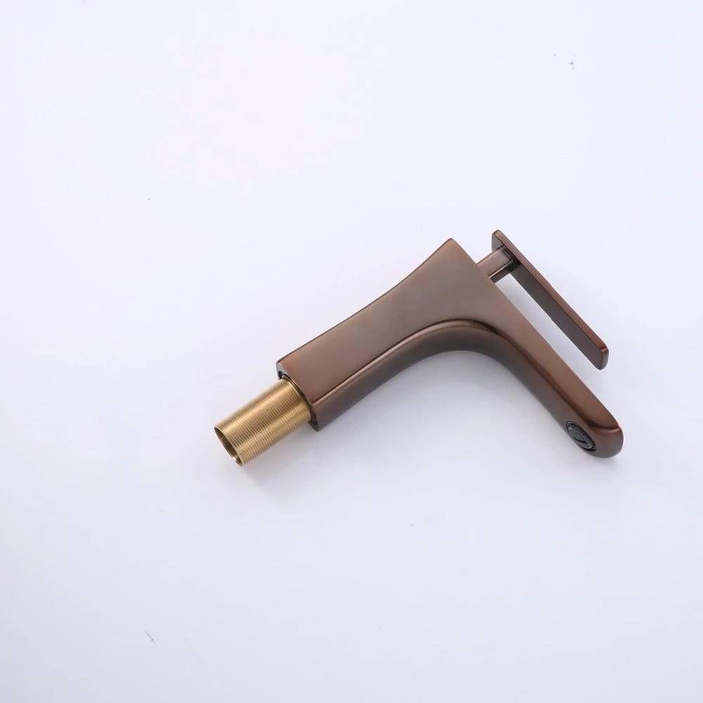 Luxury Bathroom Faucet Oil Rubber Brown Bathroom Faucet Brown Color Basin Sink Faucet Copper Mixer LAD-408