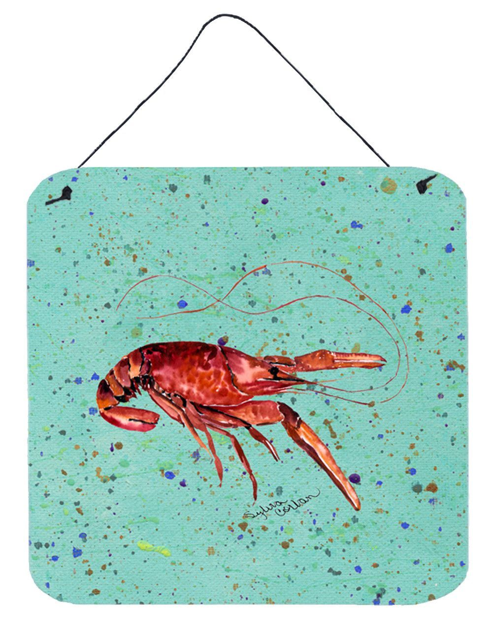 Crawfish Aluminium Metal Wall or Door Hanging Prints
