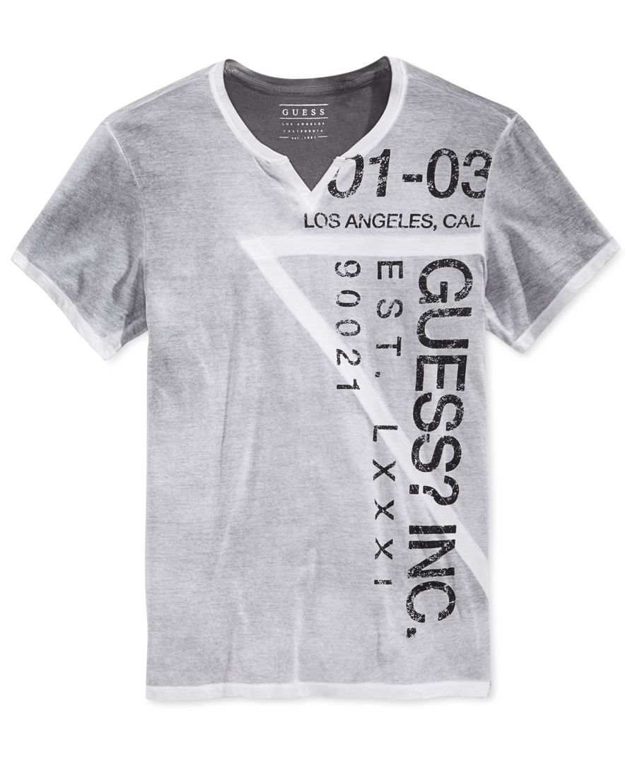 07efd7c03f From Guess, this stylish T-shirt refreshes your casual essentials ...