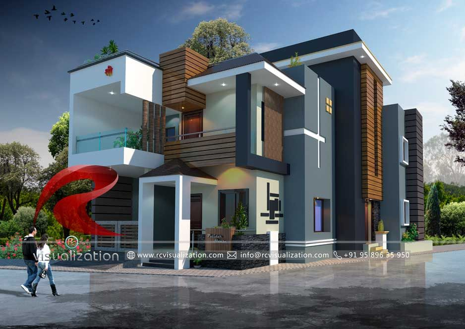 3d Bungalow Designs Gallery Rc Visualization Structural Plan And