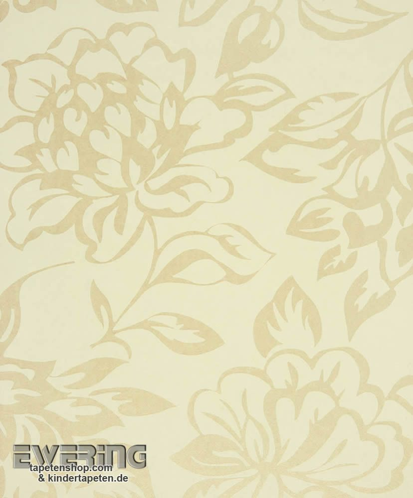 Texdecor casadeco midnight 3 36 mdg17421101 creme for Florale tapete