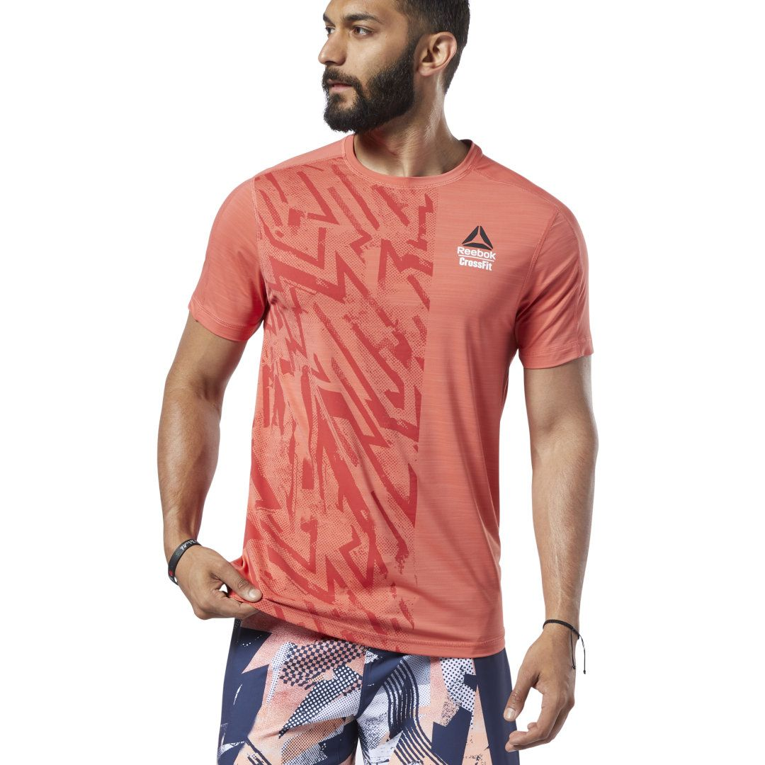 REEBOK Men's CrossFit® Games ACTIVCHILL Tee in Rosette Size