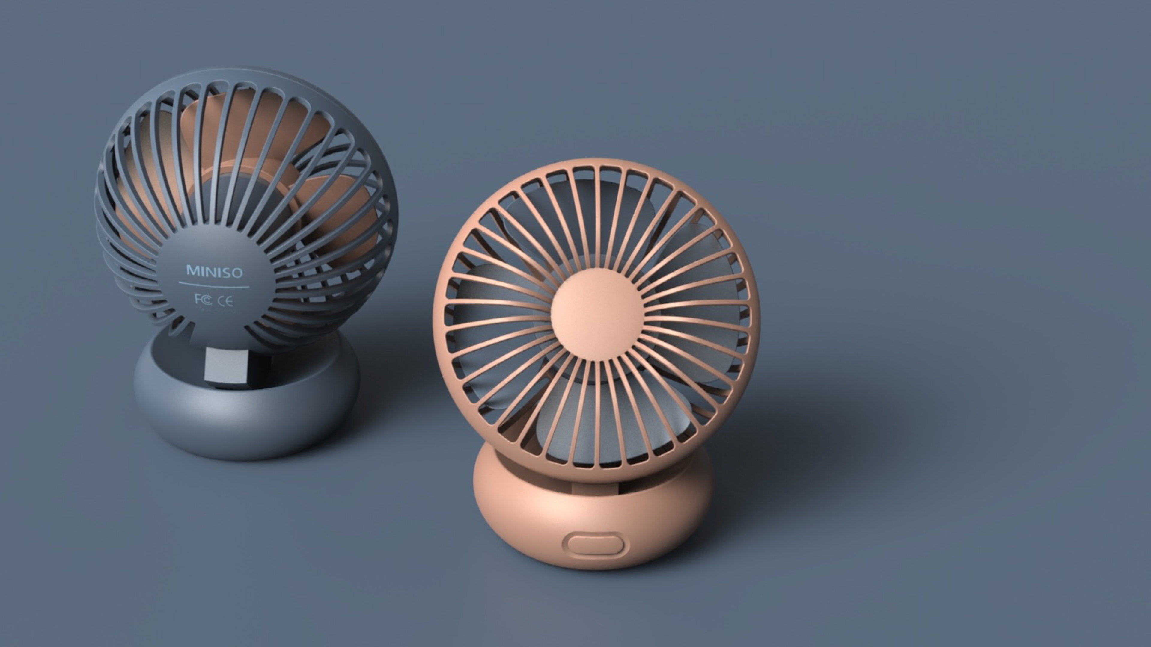 Mini Fan For This Summer On Behance Desk Fan Miniso Fan