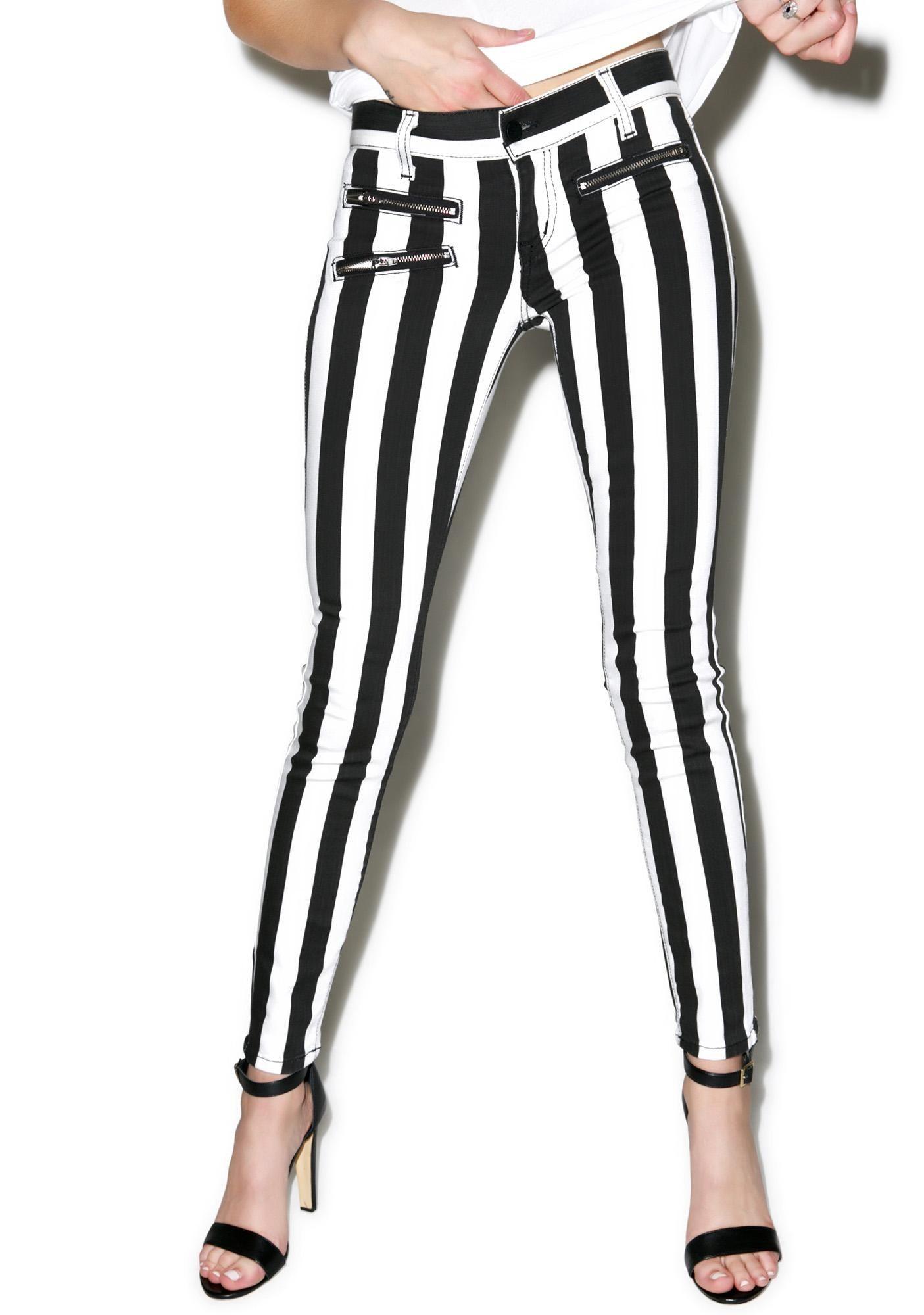 Lydia Striped Skinny Jeans   Skinny jeans, Skinny and Emo scene