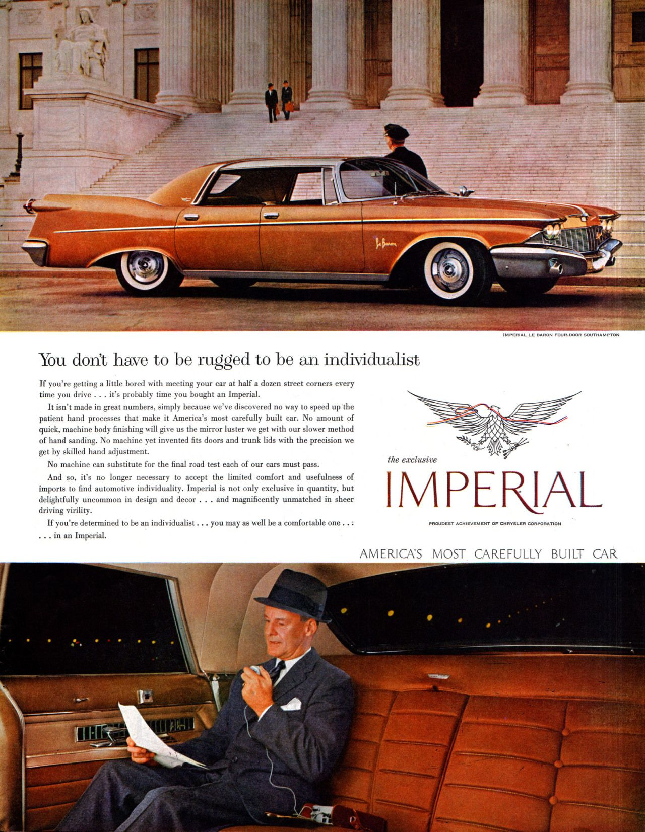 1960 Imperial ad | Vintage auto advertising | Pinterest | Cars ...