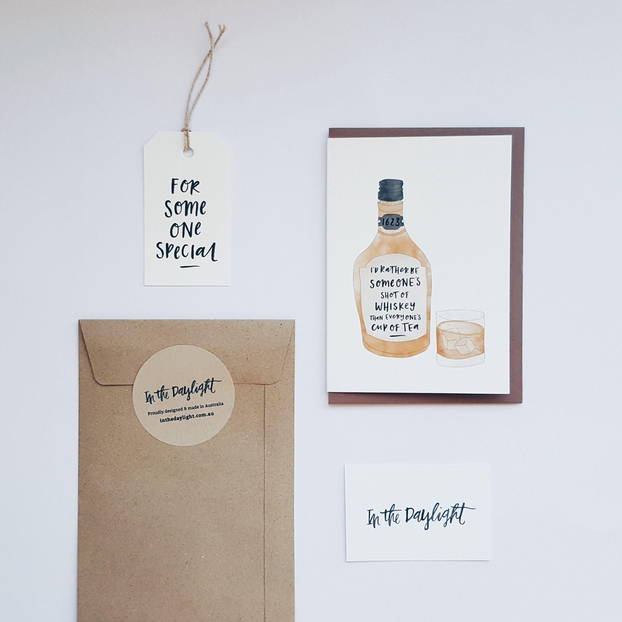 Shot Of Whiskey Greeting Card