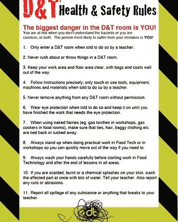 DT Health And Safety Rules Poster A Very Useful Poster To Have In Simple Sewing Machine Health And Safety Poster
